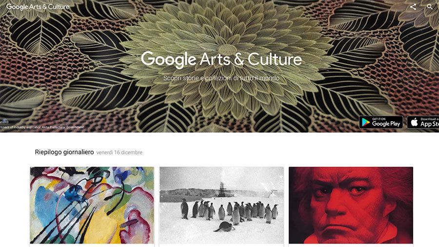 Arte per bambini e scienza con Google Arts & Culture
