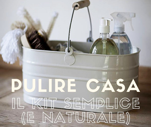 kit pulizie detersivi naturali