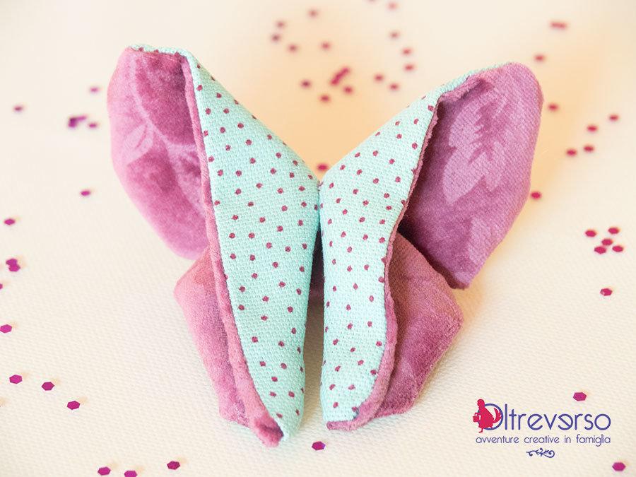 farfalla origami di stoffa fronte