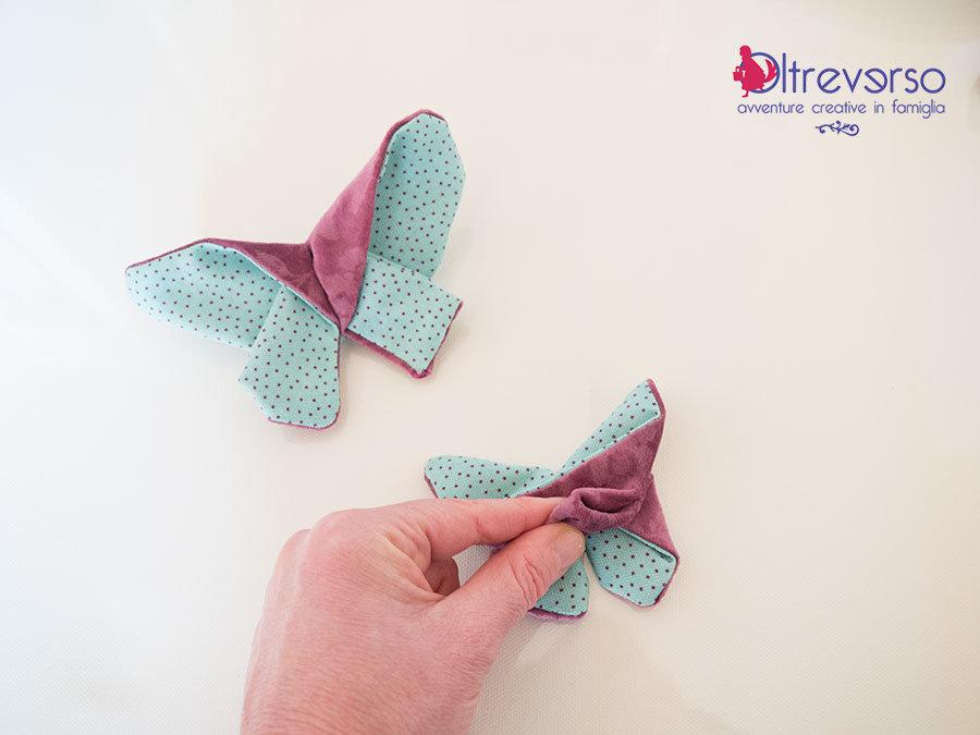 farfalla origami di stoffa tutorial