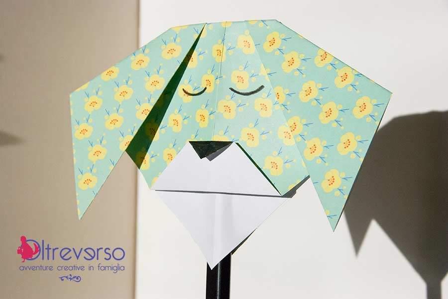 Maschera di Carnevale origami per i bambini