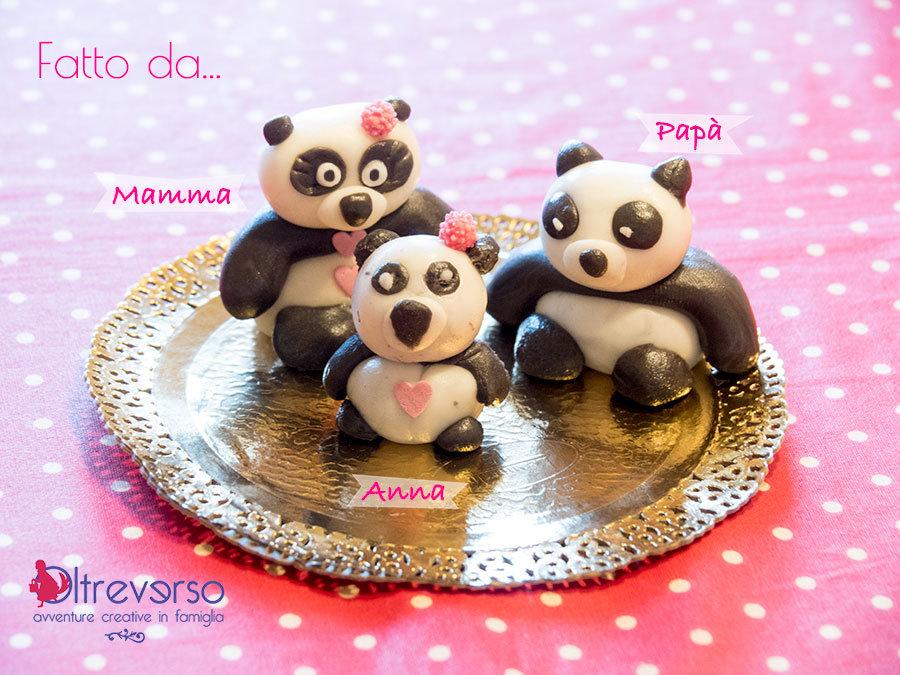 pasta di zucchero panda lavoretti con i bambini