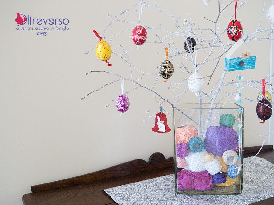 Albero di pasqua fai da te per le uova decorate a mano - Uova di pasqua decorati a mano ...