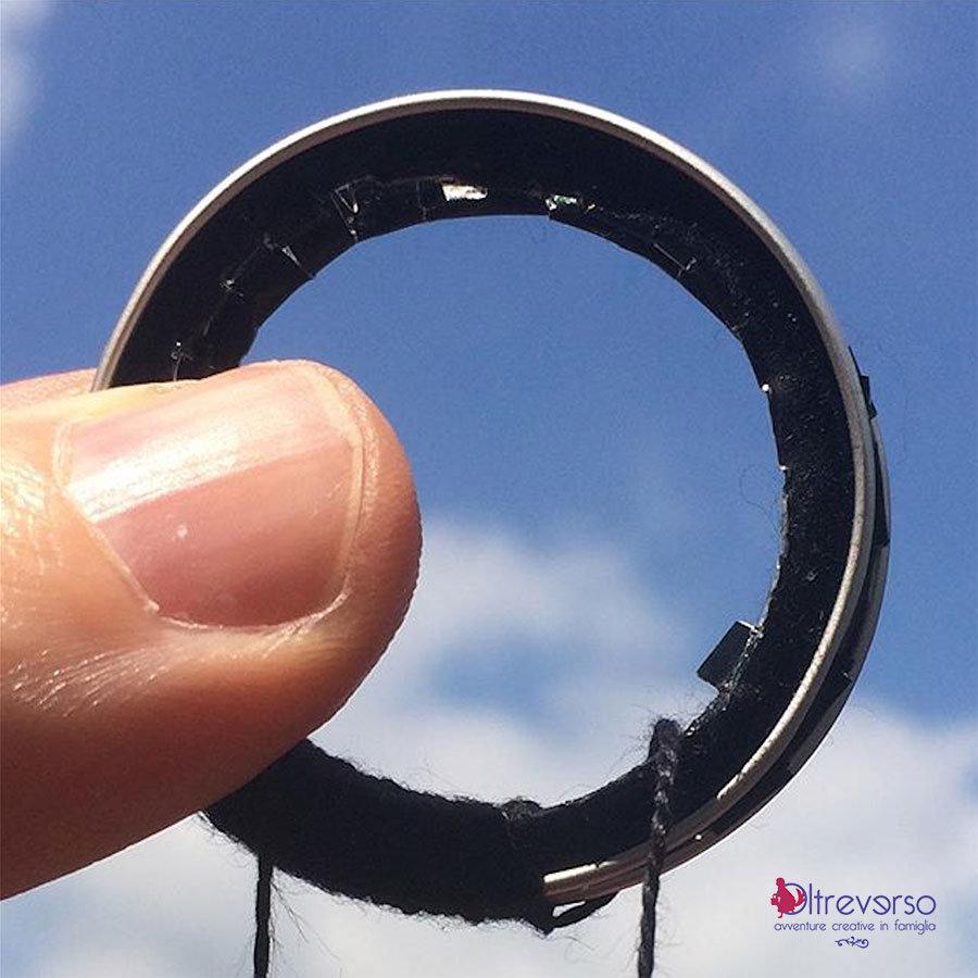 corona capsula nespresso riciclata per acchiappasogni