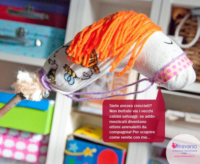 unicorno giocattolo calzini riciclo cavallino
