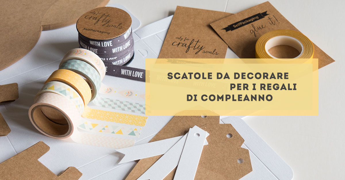 scatole di cartone selfpackaging e washi tape