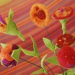 Bouquet di fiori in feltro handmade