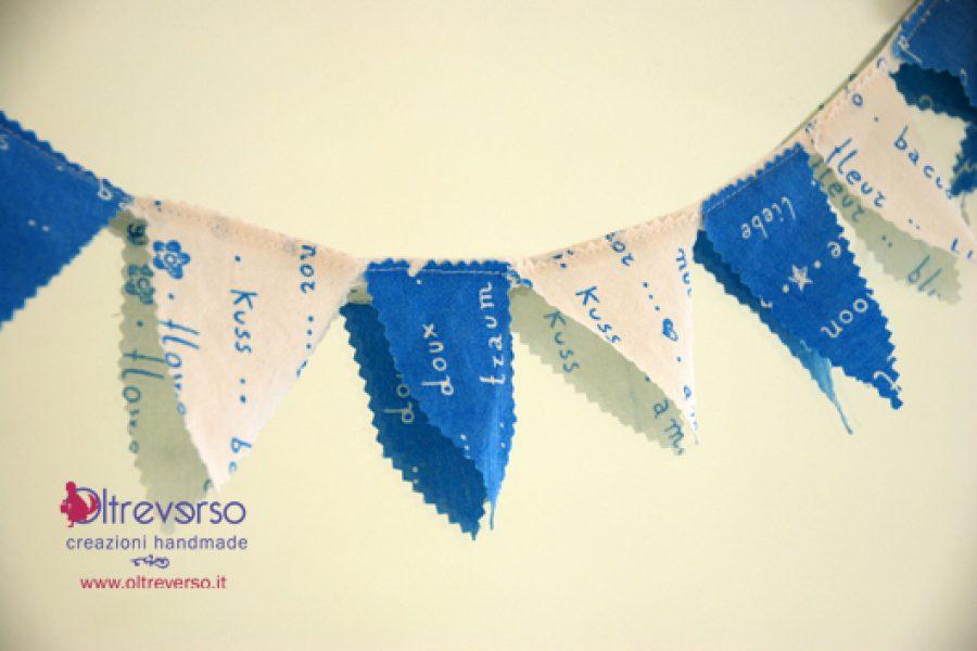 Bandierine decorative per le feste di carnevale e compleanno