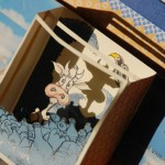 pop up book handmade with cow