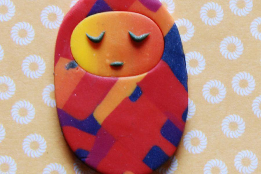 Bamboline in fimo con la tecnica del mosaico