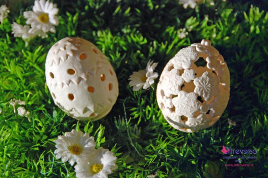 Uova di Pasqua in fimo effetto traforato: tutorial