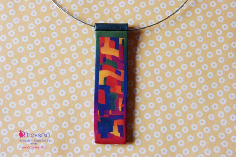 Collane in fimo: sfumatura skinner a 4 colori e mosaico