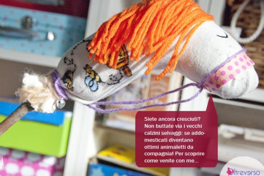 Riciclare i calzini selvaggi per giocare con i bambini
