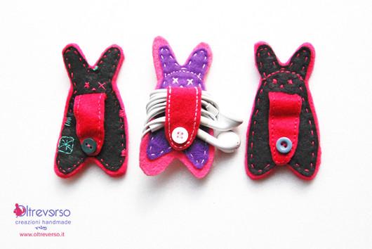 auricolari cuffiette custodia borsa diy earphones handmade