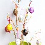 Albero di Pasqua, easter egg tree, tutorial, lavoretti con i bambini, paste modellabili, foam clay