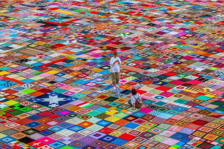 La coperta più grande del mondo batte il Guinness dei primati