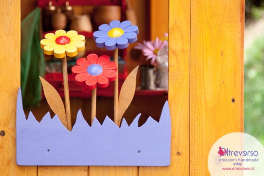 Fiori di legno per la capAnna dei bambini: come restaurarli