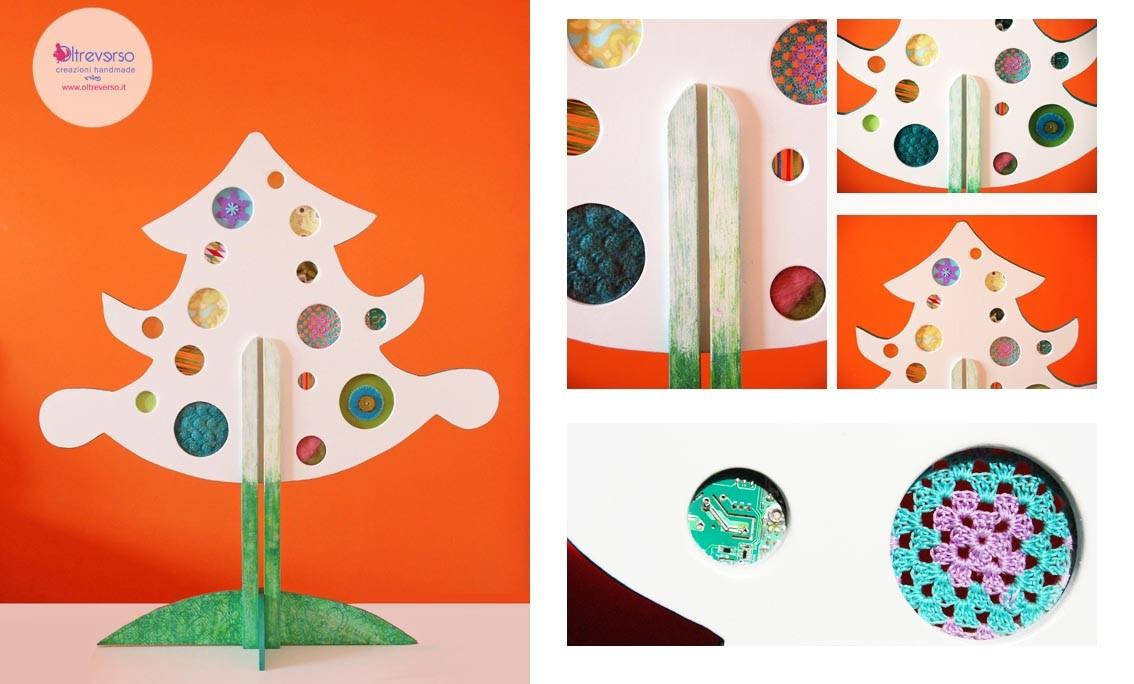 albero di Natale fai da te in legno, uncinetto, feltro, riciclo