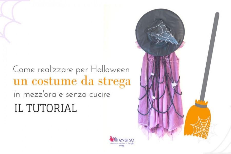 Costume Halloween fai da te da strega molto facile