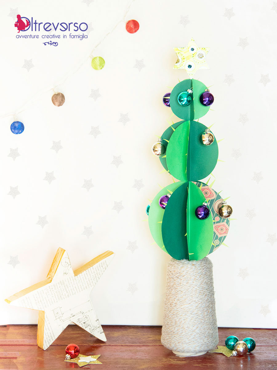 cactus di natale 3d con tutorial con decorazioni