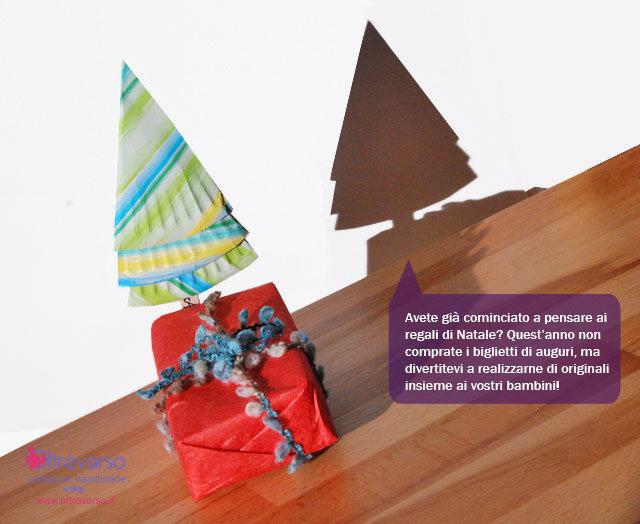 lavoretti di Natale per bambini albero chiudi pacco con tutorial