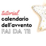 Calendario dell'avvento fai da te con il feltro tutorial