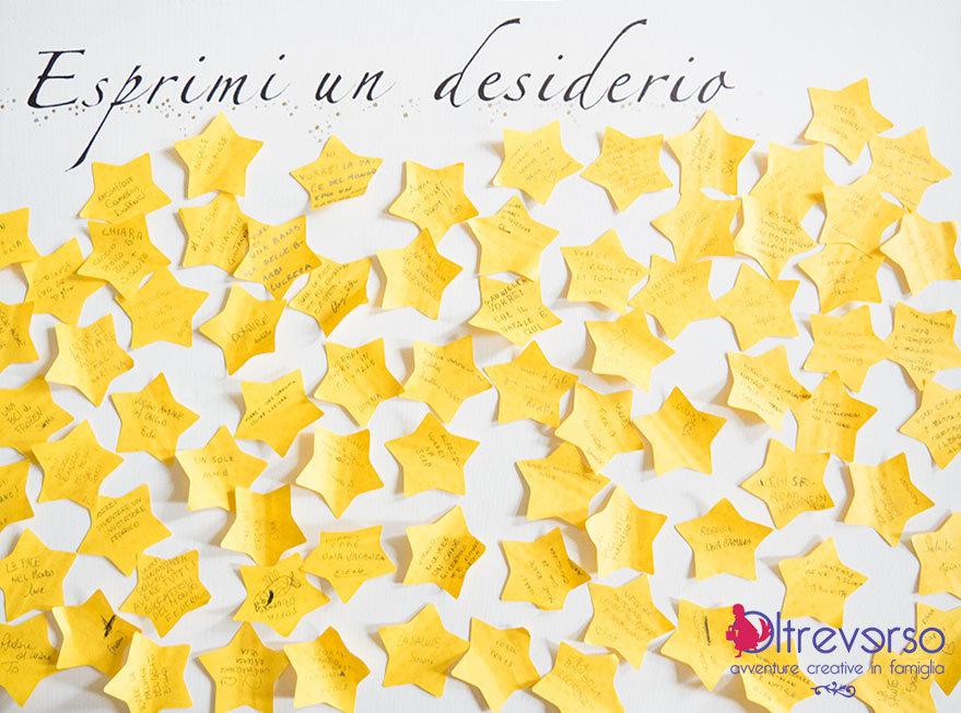 desideri su post it a stella