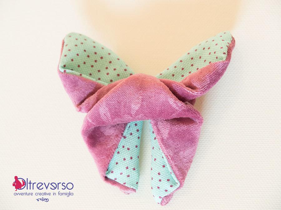 farfalla origami di stoffa retro