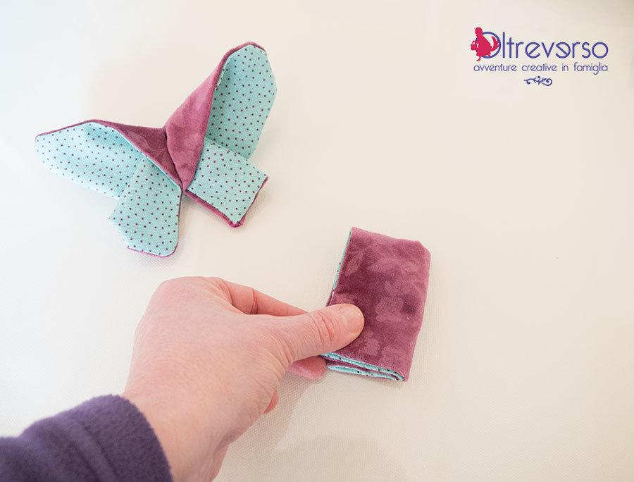 farfalla origami di stoffa piegature tutorial