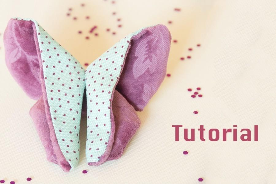 Farfalla origami in stoffa con tutorial per Manualmente