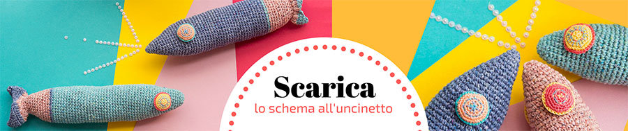 Pesce all'uncinetto schema