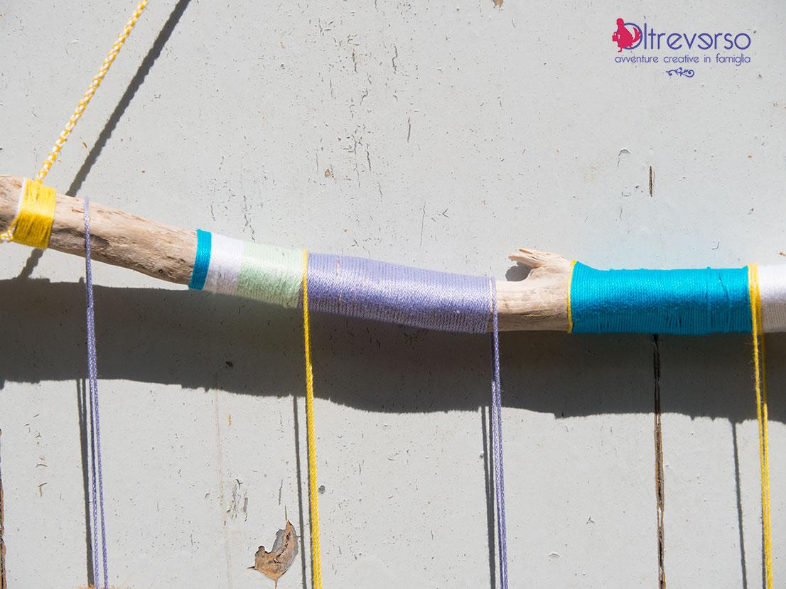 legnetto trovato sulla spiaggia usato per un lavoretto creativo